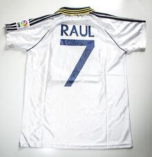 Camiseta Futbol Retro/ Raul Real Madrid 2001 Vaselina/Silencio Camp Nou Barça