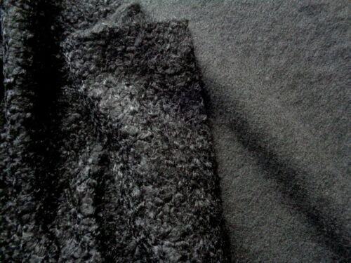 Au Mètre Vestes Tissu MANTEAU TISSU Costume Tissu Noir Edel fripée