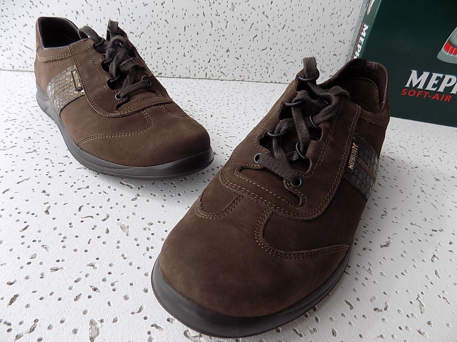 EUC Mephisto Damenschuhe Laser Perf Chestnut Leder Walking Sneakers Schuhes Größe 8.5M