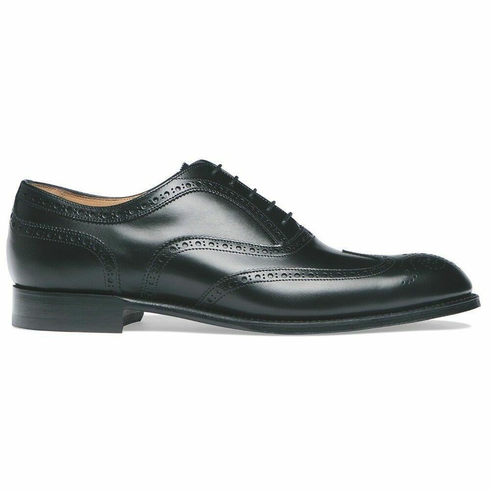 Para Hombre Zapato Hecho a Mano Negro Brogue Oxford, Zapato Formal de extremo de ala, desgaste Clásico Para hombres