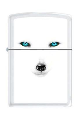 Zippo 28272 White Matte BS ARTIC FOX Lighter