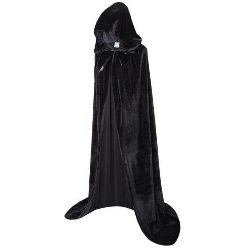 Ourlove Fashion Unisex Full Length Hooded Robe Cloak Long Velvet Cape...