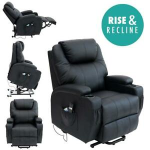 Details about CINEMA ELECTRIC RISE LEATHER RECLINER MOBILITY LIFT CHAIR REFURBISHED