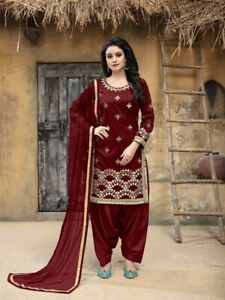 f6905ed55d Image is loading Latest-Indian-Maroon-Salwar-Kameez-Pakistani-Bridal -Punjabi-