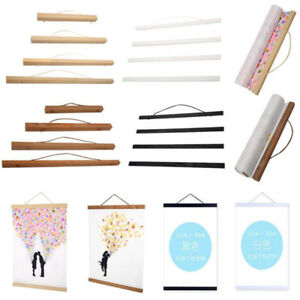 21 30 40 50 70 cm magnet wood poster frame painting scroll photo