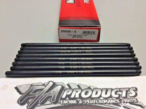 """Manley 25830-8 Swedged End 8.300/"""" Long .080/"""" Wall 3//8/"""" 4130 Push Rods Set Of 8"""