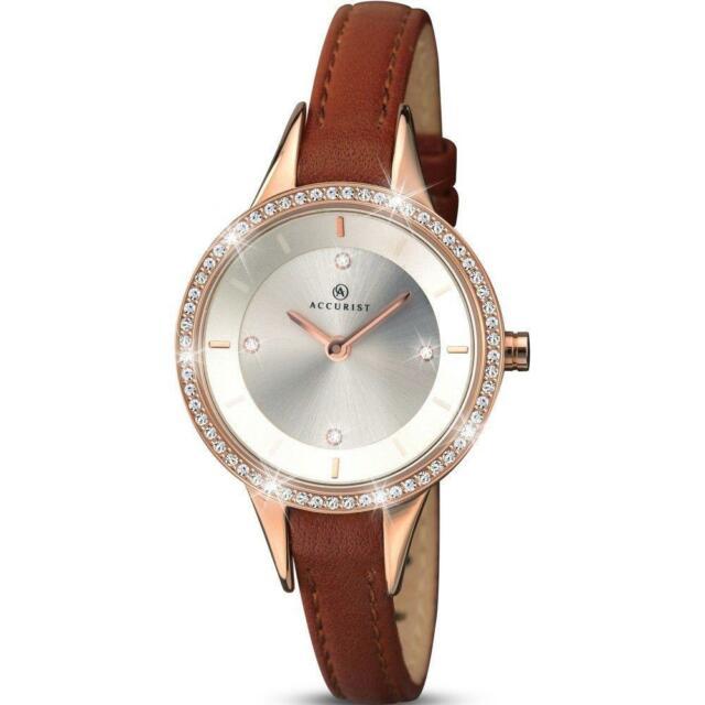 f2eae6635d1 Ladies ACCURIST 8043 Contemporary Stone Set Leather Strap Watch RRP £79.99