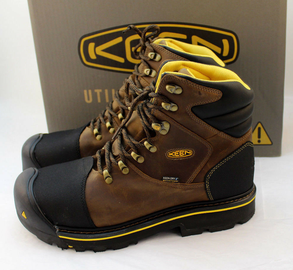 "New KEEN Größe 11.5 D Utility MILWAUKEE Steel Toe Men's 6"" Work Stiefel RETAIL  160"