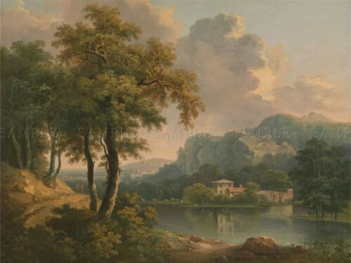 PAINTINGS OLD MASTER ABRAHAM PETHER WOODED HILLY LANDSCAPE POSTER PRINT BB3208A