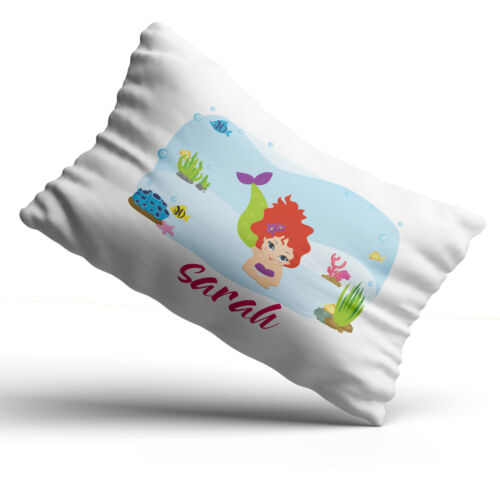 Personalised Mermaid Pillowcase Children Printed Gift Custom Print New