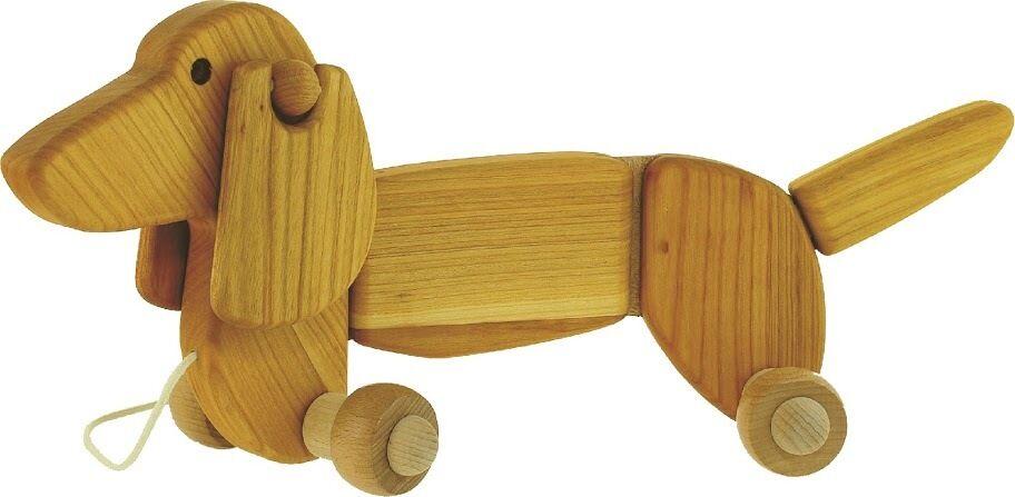 Para Tirar Perro - Perro Salsicha - Juguetes de Madera por Bajo