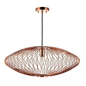 25-034-W-Pendant-Vaccuum-Plated-Copper-Stainless-Steel-Interwoven-Wire-Contemporary