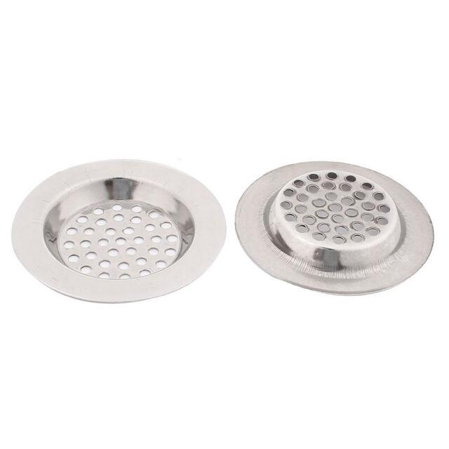 Bathroom Kitchen Stainless Steel Basin Sink Drain Strainer 2pcs WS J1D6