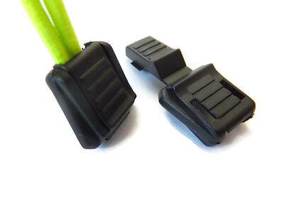 10 X Cavo Di Bloccaggio Estremità Elemento Di Fissaggio Stopper Forte Molla Zip Lock Cl34-mostra Il Titolo Originale
