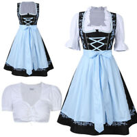 Kojooin Oktoberfest German Beer Woman Dirndl Maid Costume Austrian Fancy Dress