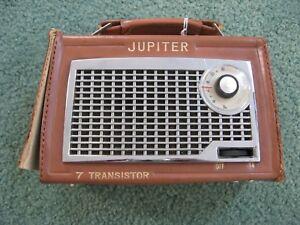 Jupiter-7-Transistor-AM-Radio-Japan-Cow-Hide-Untested-Parts