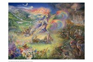 "Josephine Wall fantasy art poster 24x36/"" Keys to Eternity"