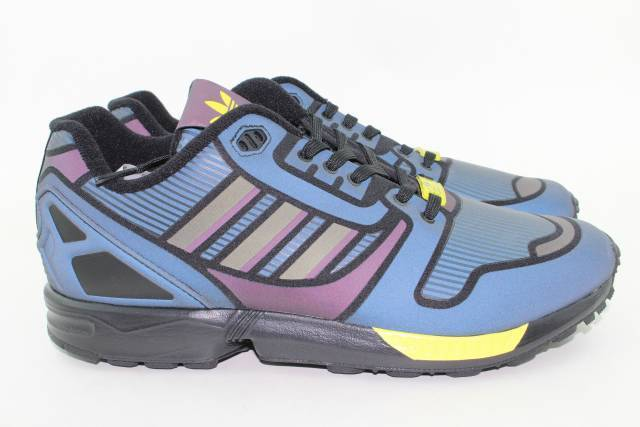 9b9fbacb0c07 adidas Originals ZX Flux Shoes Black Yellow B54176 Mens Size 11 for sale  online