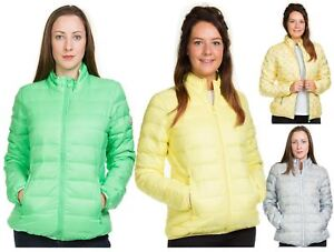 Ladies-Padded-Jacket-Down-Feather-Lining-Plain-Lightweight-Quilted-Floral-Coats