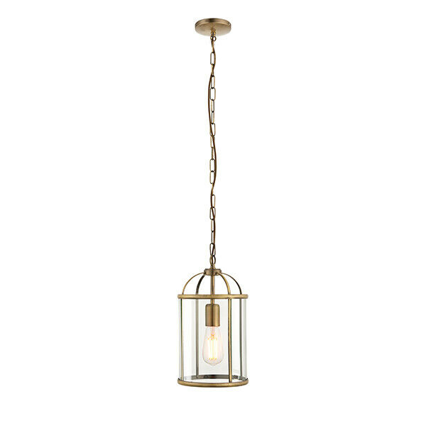 Endon Lambeth Indoor Single Pendant Light IP20  BRASS BIRD CAGE