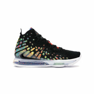 Nike-Men-039-s-Lebron-17-XVII-James-Gang-Black-Multi-Color-Basketball-Shoes