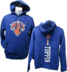 New York Knicks #1 Obi Toppin Jr. Mens Sizes M-L-XL Blue Hoodie