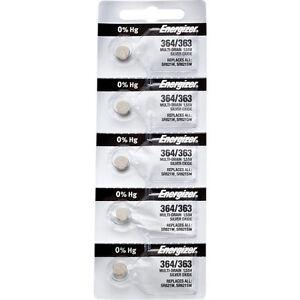 5-x-Energizer-364-Watch-Batteries-0-MERCURY-equivilate-SR621SW