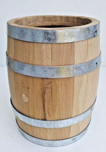 2 L en chêne massif en bois tonneau Plante Fleur Jardiniere Pot Pour Jardin Patio Régénéré