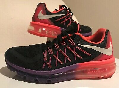 WOMANS NIKE AIR MAX 2015 Shoes Size 7 Hot Pink/Purple/Black 698903-006