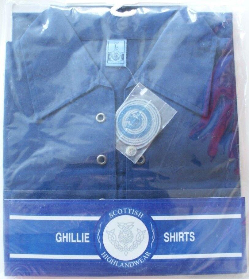Herren Qualität Schwer Scottish Highlandwear Ghillie Hemd L oder XL