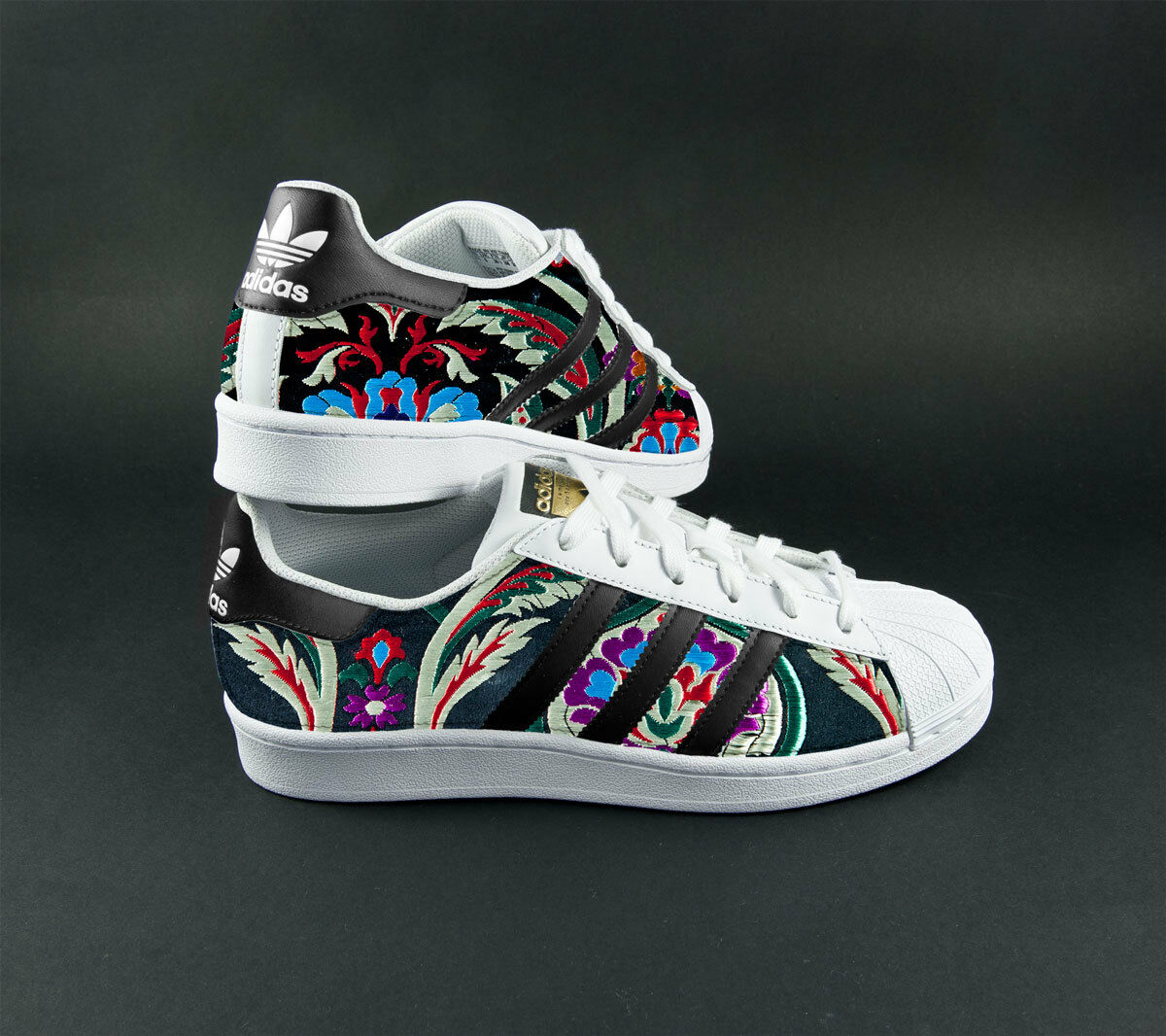 Schuhe adidas superstar superstar superstar con tessuto indiano colorato 1a9481