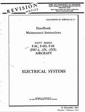 Vought F-8 F8U Crusader Jet 1960's Technical Maintenance Manual Period Archive