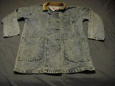LEE JEANS 1970-80s VTG Womens Medium Blue Denim Duster Jacket Button Up USA MADE