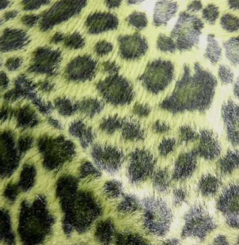 Ff11a Fourrure Synthétique Noir Peau de Léopard Imprimer housse de coussin//oreiller Case Taille personnalisée