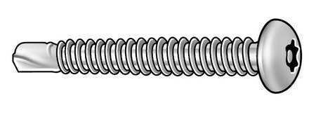 TAMPER-PRUF SCREW 490360 Tamper Screw,Pan,#10-16,1 1//2,PK10