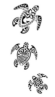 SEA TURTLE FAMILY decal sticker Car Truck Laptop Cute Funny