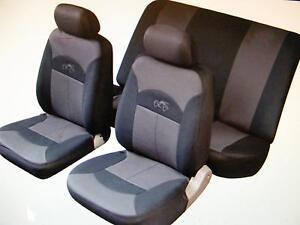 MAZDA-323-626-XEDOS-DEMIO-Car-Seat-Covers-Full-Set-Black-Grey-Washable-14002