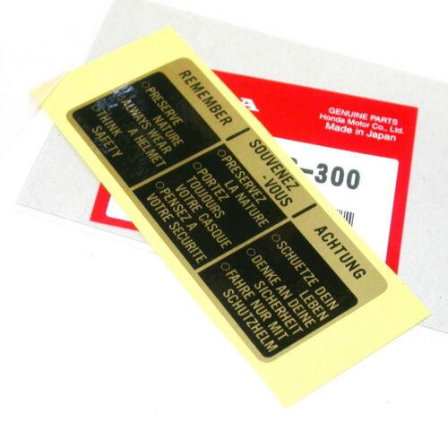 HONDA CB 750 C 750 L Autocollant Réservoir tankaufkleber Caution Sticker Mark Drive Décalque