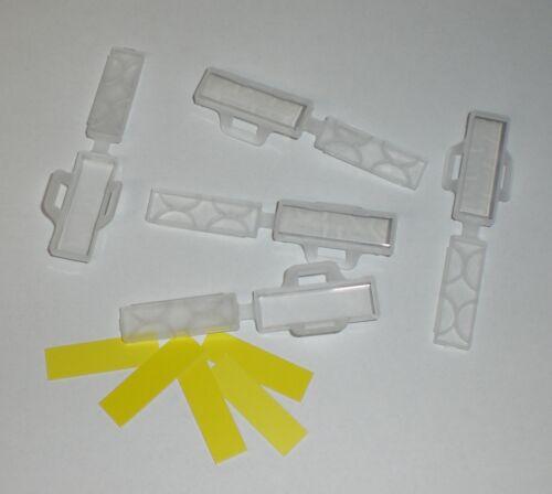 Kabelschilder Kabelmarkierer transparent+Einlegeschilder gelb 11,5 x 32,5mm 6x