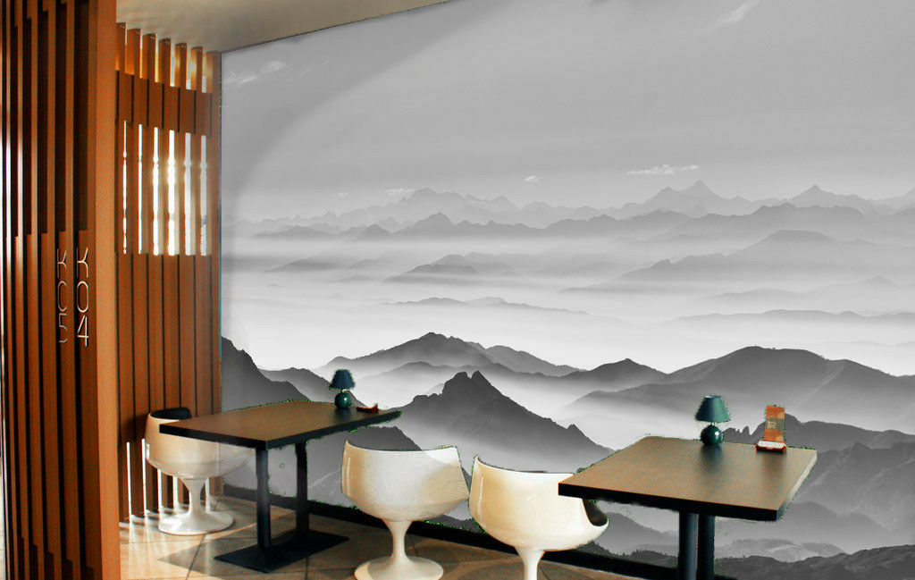 3D grau    Sky Hills 90 Wall Paper Murals Wall Print Wall Wallpaper Mural AU Lemon 5da1e9