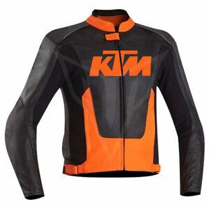 Ktm Hommes Moto Veste En Cuir Courses Motogp Motard Blousons Cuir Armure Ce Ebay