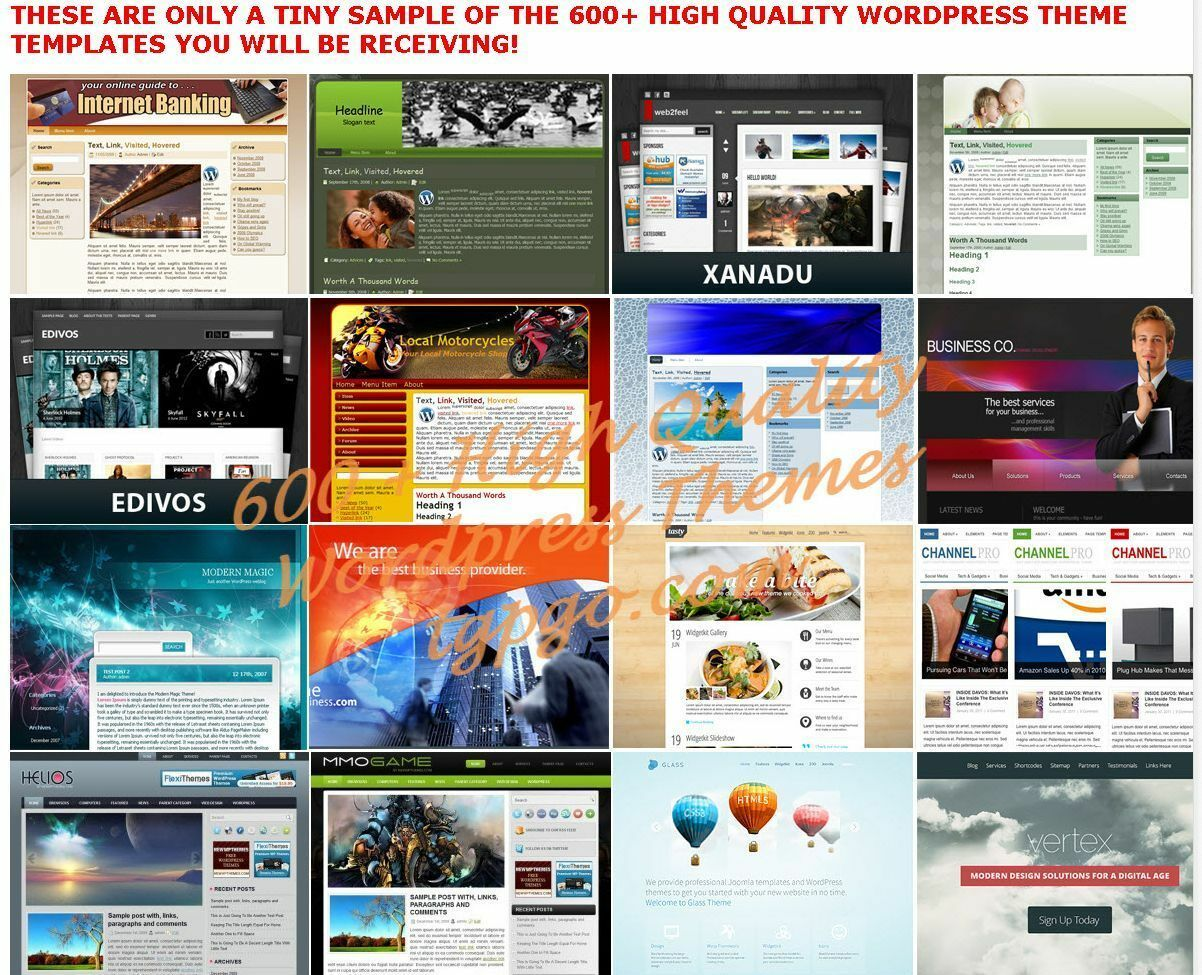 600+ Premium WordPress Themes Templates + 900 Landing Pages - cd 2