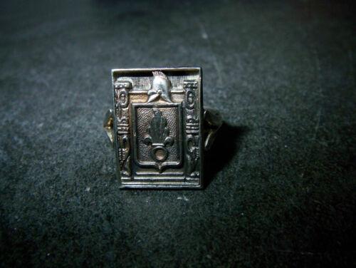 Uhren & Schmuck Handarbeit 1955-65 Art De.co Verkaufspreis Fremden-legion Originaler 925er-silber-ring