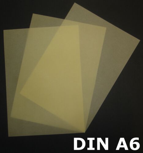 100 Blatt DIN A6 Transparentpapier Zanders Spectral 100g Farbe Creme transparent