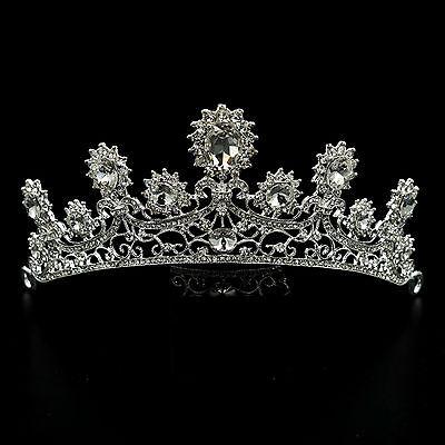 29dc17f22ce Wedding Clear Austrian Crystal Rhinestone Tiara Crown Bridal Party ...