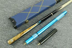 034-Grand-Cues-034-8-53mm-Tip-3-4-Ash-Shaft-Black-Ebony-Handmade-Snooker-Cue-Set-1336