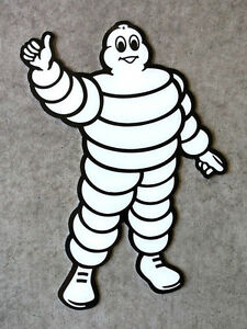 "MICHELIN MAN SIGN - 9"" x 12"" Aluminum -  Garage Decor - Racing Logo - Tire"
