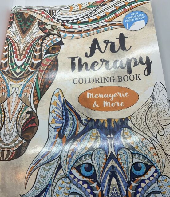 Art Therapy Coloring Book Menagerie And Aquatica Perforated Edges