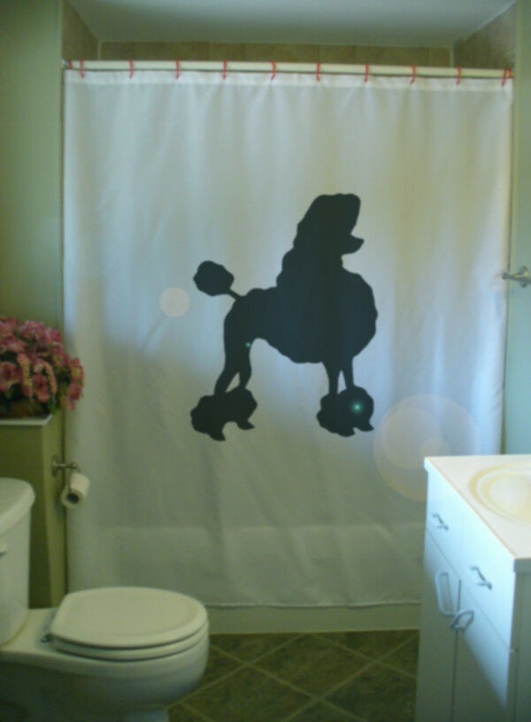 Poodle Bath Shower Curtain Dog Breed Canine Pamper Groom Toy Class French Style 5d2067