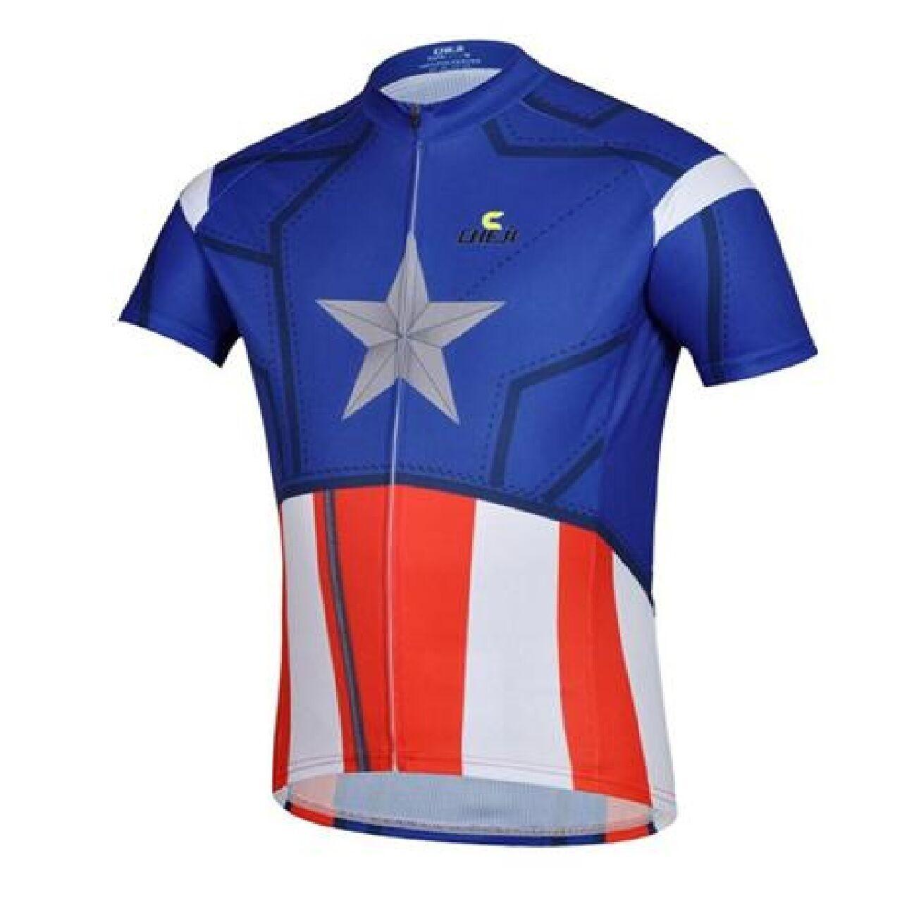 Cheji cierre completo mangas cortas Coolmax Ciclismo Camiseta Grandes Rojo  blancoo Azul  ordene ahora los precios más bajos